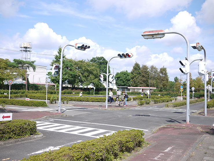 南小泉交通公園で自転車練習!ゴーカートもあるよ